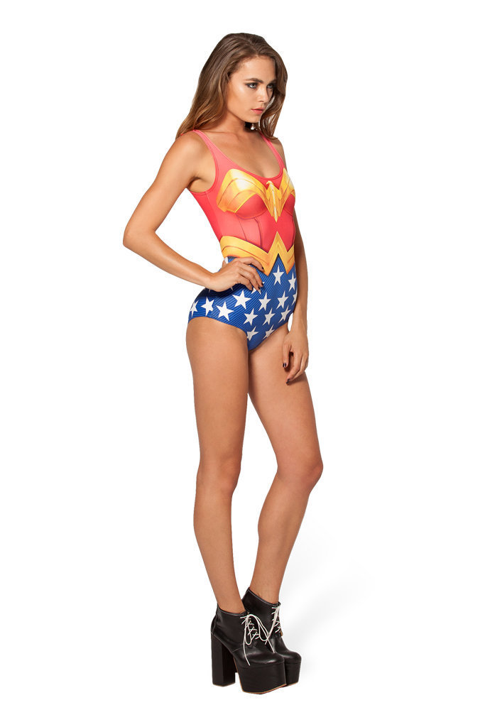 Wonder Woman One-Piece Swimsuit  Sexy Printed One Piece Monokini Swimsuit for Lady