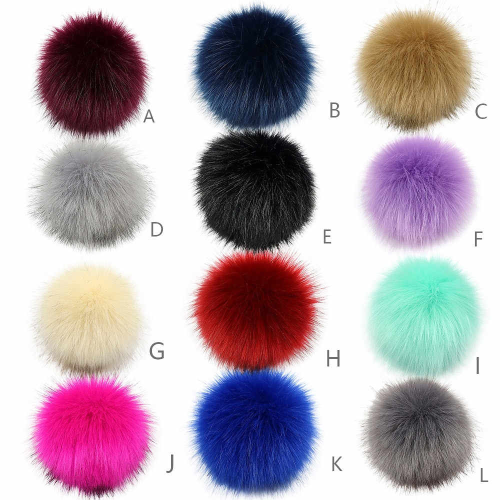 2019 new DIY knit hat accessories artificial fox plush velvet ball woven hat new year gift without buckle 3.5