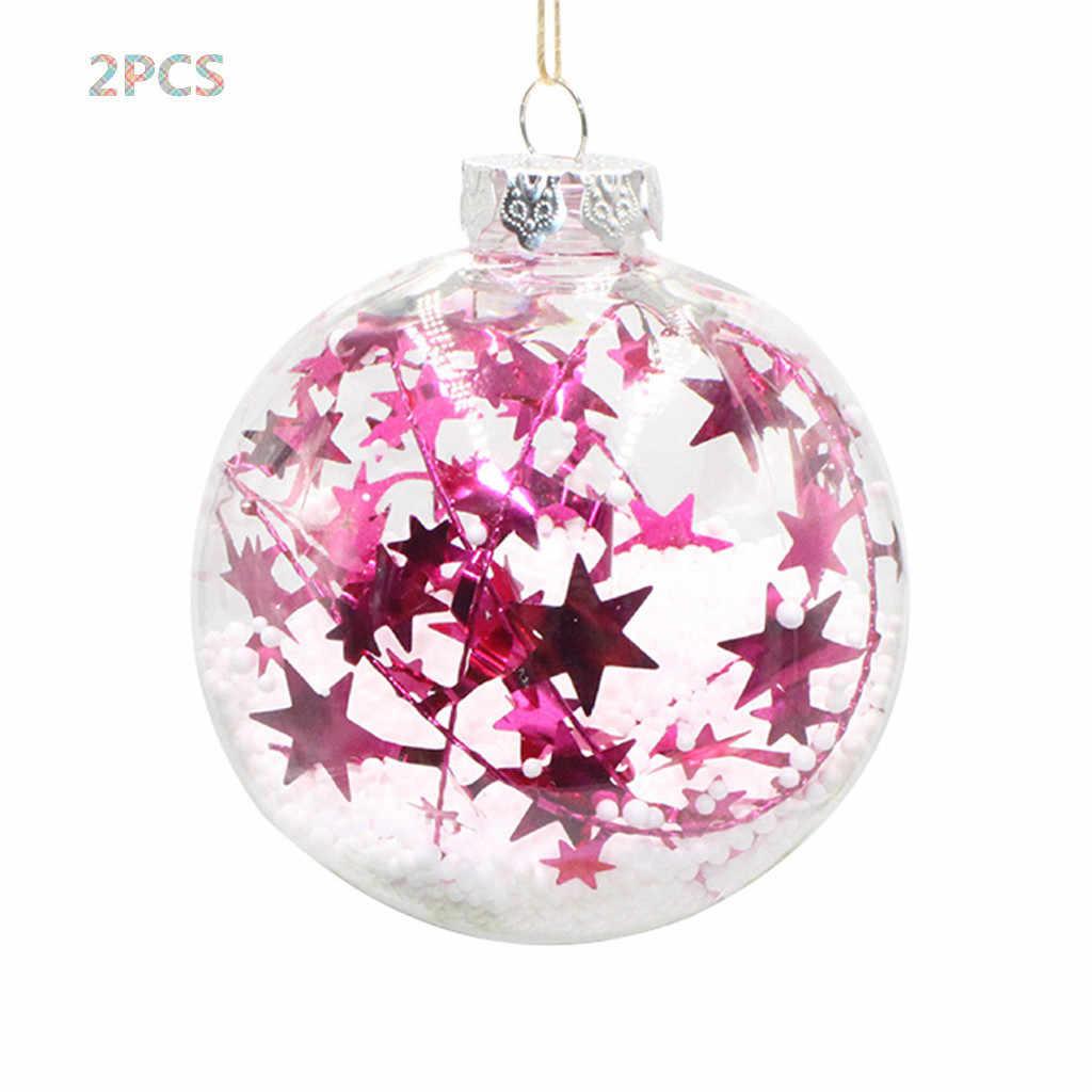 Комплект из 2 предметов, хит продаж, одежда на Рождество, для девочек розовое дерево подвесной дома орнамент рождественские декорации шар 19Jan23 P40