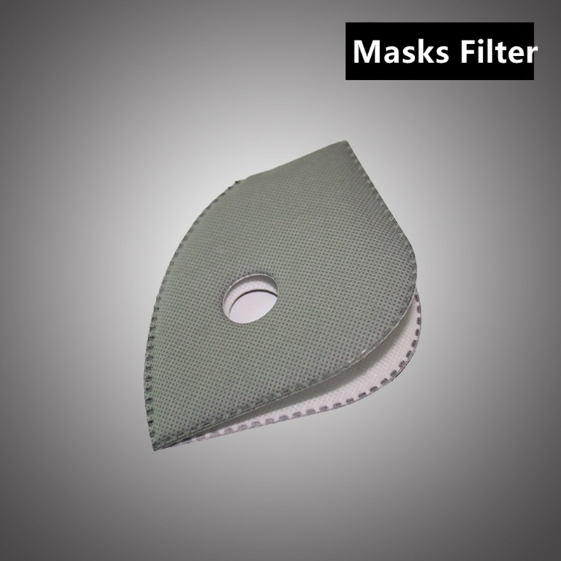 10pc/lot Masks Filter PM2.5 Smog Mask Bicycle Bike Cycling Dust Air Pollution Face Protection Carbon Mask Filter