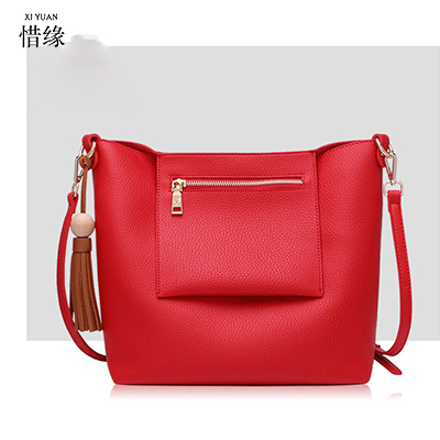 XIYUAN BRAND high quality simple summer and spring women red pu Composite shoulder cross body Bag female new crossbody hand bags xiyuan brand ladies beautiful and high grade imports pu leather national floral embroidery shoulder crossbody bags for women