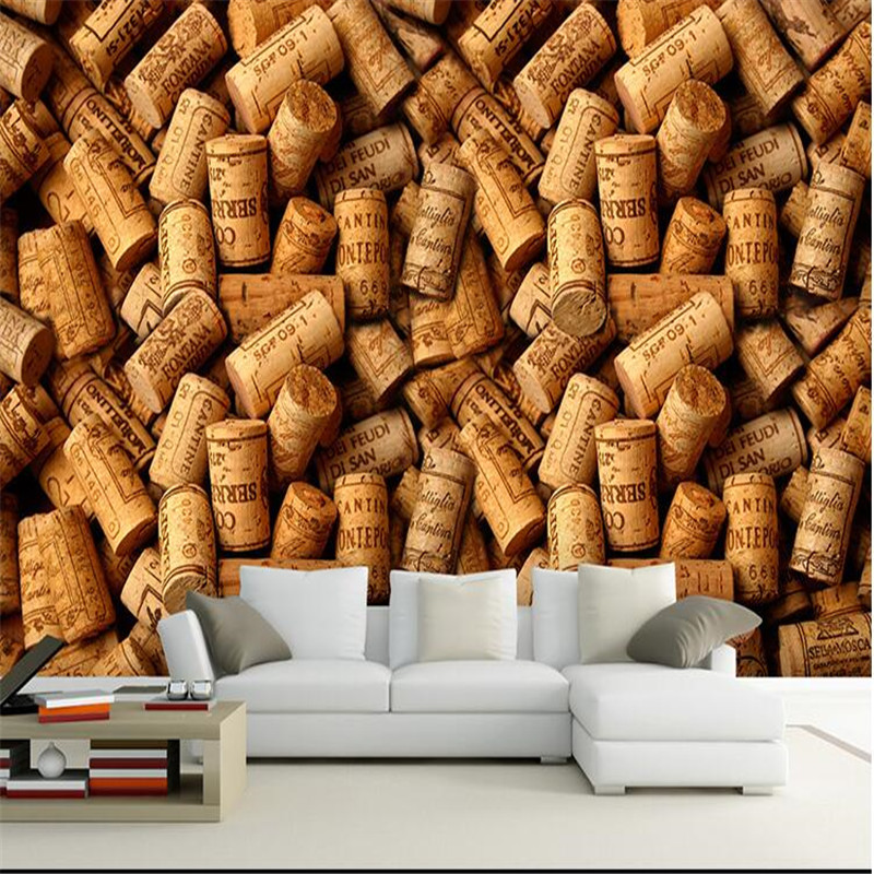 Beibehang 3d Large Wall Wallpaper Mural HD Coffee Yellow Box The Whole  Space Feel Cafe Art Deco Backdrop Custom Silk Photo