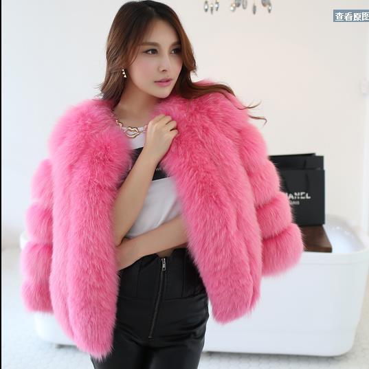 Jackets & Coats Honey 2019 2019 Women Winter Faux Fox Fur Coat Vintage Fake Mink Fur Patchwork Short Coat Furry Slim Ladies Jacket Parka Wr748