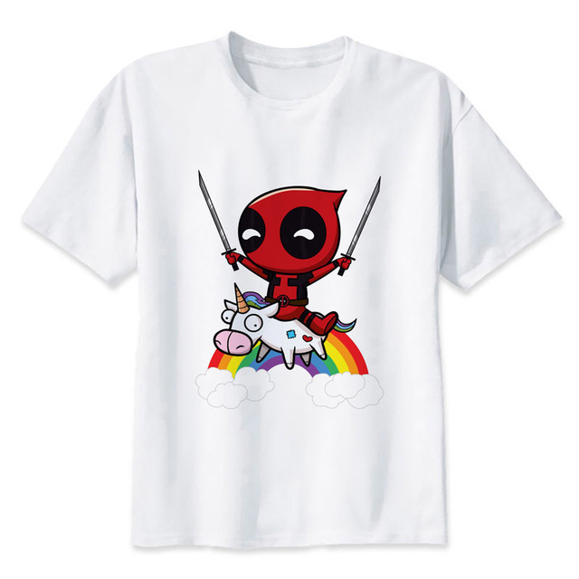 acheter deadpool quitation une licorne imprimer casual t shirt hommes o cou t. Black Bedroom Furniture Sets. Home Design Ideas