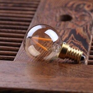 G40 T22 T20 Глобус Винтаж светодиодный нити светильник лампа 1 Вт 2200K E12 E14 110V 220V золотого оттенка с регулируемой яркостью лампы, декоративная люстра светильник|Светодиодные лампы и трубки|   | АлиЭкспресс