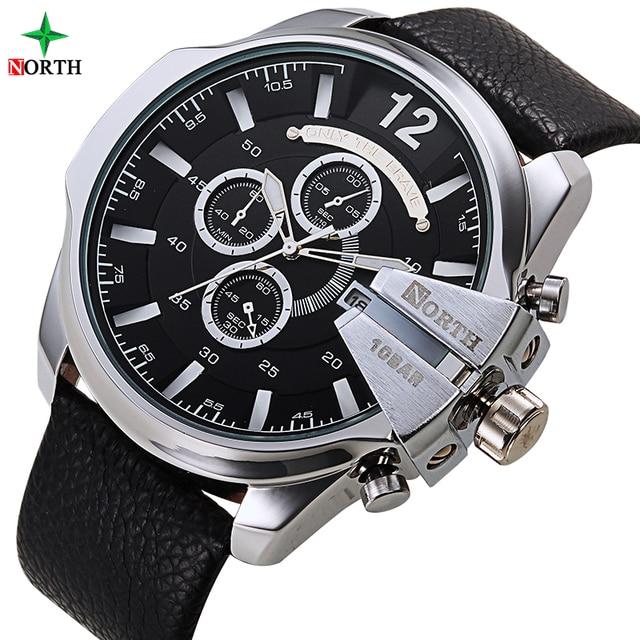 Relojes Hombre Famosa Marca de Relojes de Los Hombres Militares Hombres de Cuero Whatch Impermeable Reloj Hombres Reloj de Cuarzo Reloj de Pulsera Tag Sport Reloj de Los Hombres