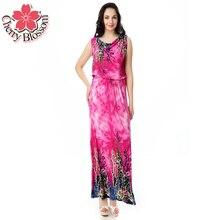 Богемный Dress Летней Пляжной Моды Контрастность Цвет Dress Short рукавом О Шеи Талии Bodycon Новый Платья Макси Плюс Размер 6XL