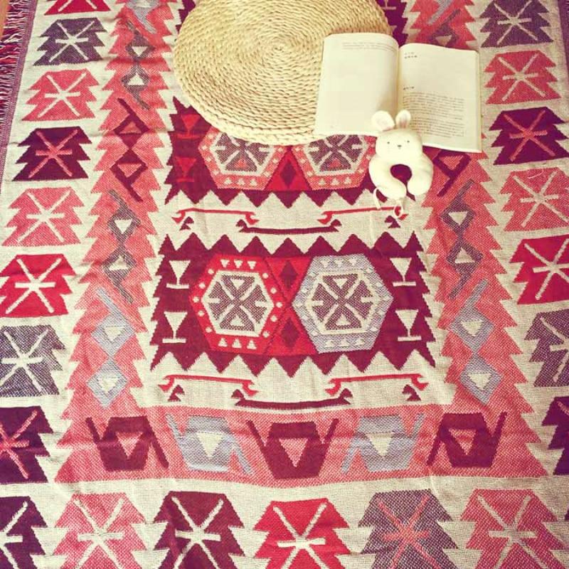 Грубая хлопчатобумажная нить ретро ностальгия ковер тонкое одеяло Tie-Dye Этническая Книги по искусству одеяло покрывало гостиная, спальня Во...