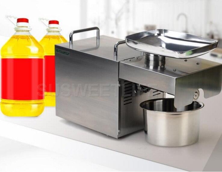 Livraison rapide 220 V en acier inoxydable machine à huile de tournesol presse à froid machine d'extraction d'huile de noix de coco presse à huile manuelle