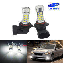ANGRONG 2x HB3 9005 White SAMSUNG LED Foglight Sidelight Indicator Head Light Bulbs DRL 45W