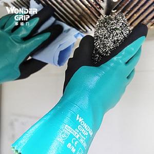 Image 4 - מים הוכחת 2 זוגות 100% ניילון מיקרו קצף Nitrile מקסי גבוהה להגמיש עמיד למים שמן חומצה בסיס כימי עמיד בטיחות עבודה כפפות