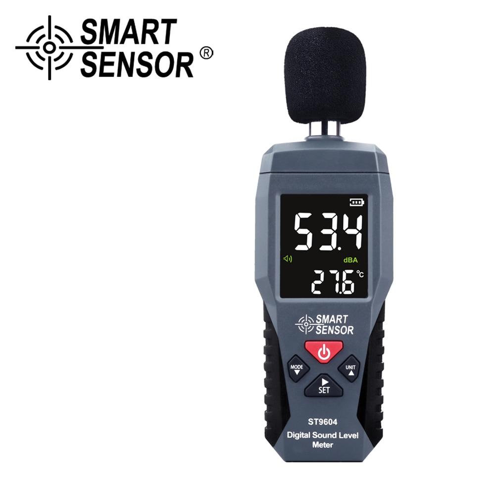 Medidor de nível de som digital cor lcd db decibel monitor de áudio medidor de nível tester 30-130db medição de ruído ferramenta de diagnóstico alarme