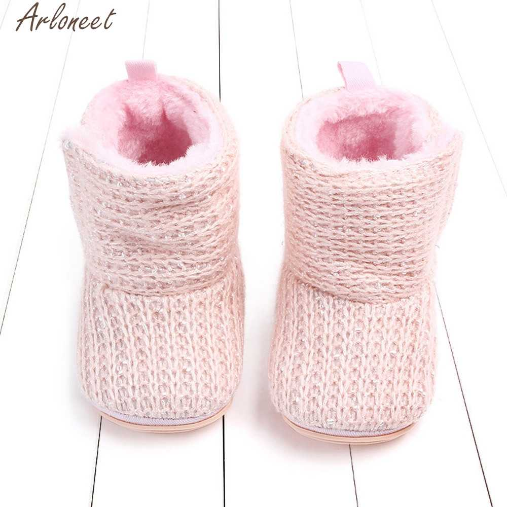 ARLONEET Girls Newborn Infant Shoes Warm First Walkers baby girl shoes baby shoes girls 1 year winter baby shoe