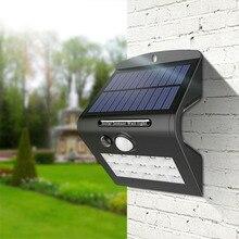 15 светодиодов, солнечный светильник, солнечная панель, лампа питания, PIR датчик движения, дорожка, светильник, уличный, для крыльца, для безопасности, для улицы, водонепроницаемый, настенный светильник
