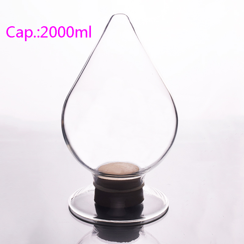 Big seed bottle,Capacity 2000ml,Conical seed bottle,Display bottle,Heart-shaped bottle golden seed