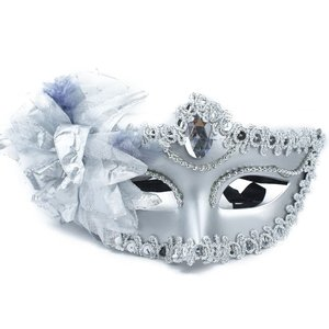 Image 5 - Sexy Diamond Venetian Mask Venice Feather Flower Wedding Carnival Party Performance Purple Costume Sex Lady Mask Masquerade