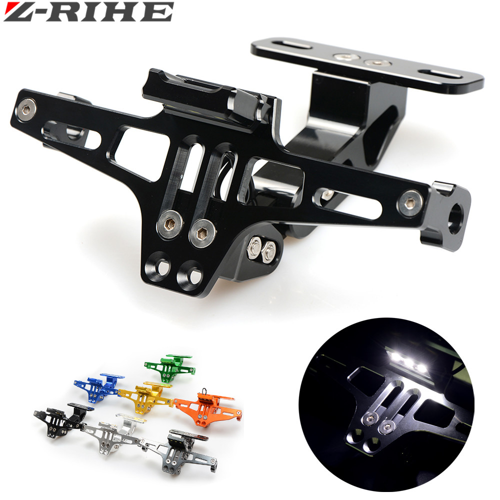 CNC Motorcycle License Plate Bracket Holder FOR ktm duke RC 125 200 390 690 smc 1290 rc honda kawasaki yamaha tmax 530 500 r25 riz0ma cnc motorcycle brake fluid oil reservoir cup tank support bracket for ktm yamaha mt07 mt09 tmax500 530 honda yzfr3 r25