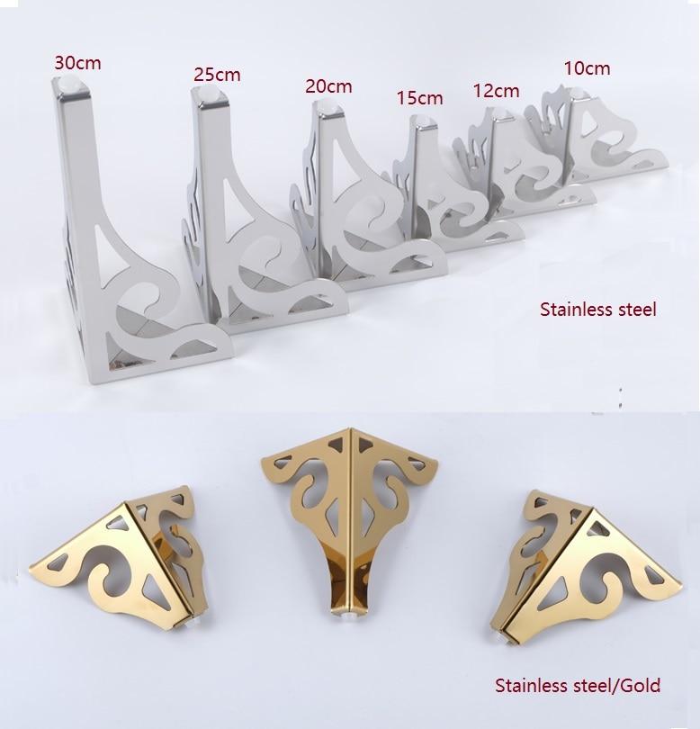2Pcs/Lot Premintehdw Stainless Steel Furniture Sofa Legs European Flower Pattern Cabinet Feet Hardware Accessories Gold