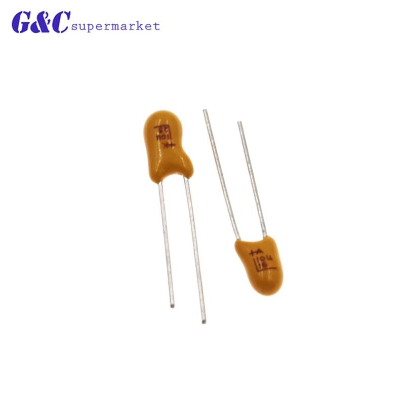 20 PCS 10UF//35V DIP-2 10 uF 35V 106 Radial Tantalum capacitor 106//35V