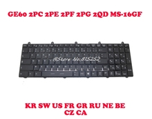 Laptop Keyboard For MSI GE60 2OC 2OD 2OE 2PC Black With Colorful Backlit KR Korean GR German SW Swiss US English цена и фото