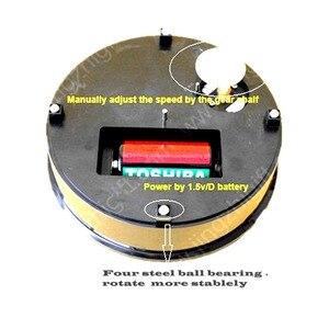 """Image 4 - جديد علوي 8 """"أسود المخملية الكهربائية حامل شاشة دوار التصوير الفوتوغرافي ، فيديو اطلاق النار الدعائم الدوار طاقة البطارية"""