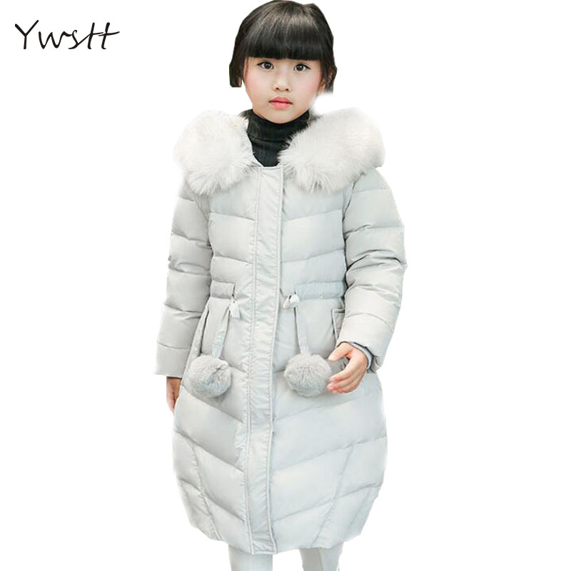 YWST2017 Fashion Girl's Down jackets/coats winter Russia baby Coats thick duck Warm jacket Children Outerwears -30degree jackets fashion girl winter down jackets coats warm baby girl 100% thick duck down kids jacket children outerwears for cold winter b332