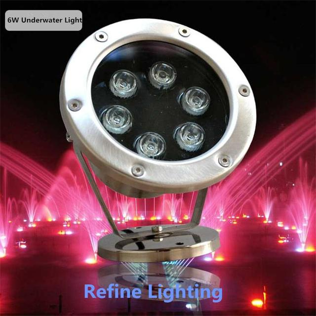 RGB LED Underwater Light 6W Stainless Steel Pool Lamp Swimming ...