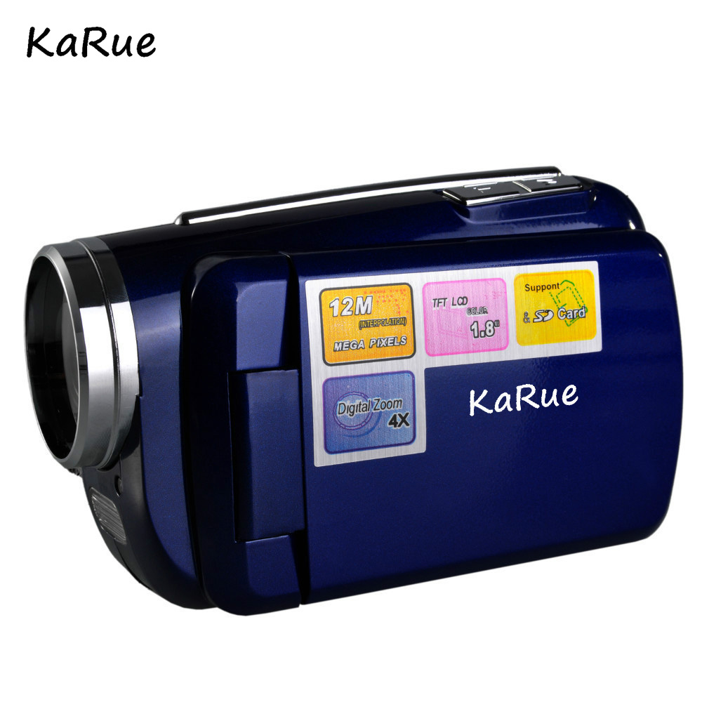 KaRue Free Shipping 12MP 720P Digital Video Camera with 4x Digital Zoom 1.8 LCD Screen Mini Digital Camcorder for children gift image