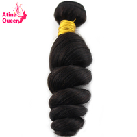 Atina Queen Loose Wave Brazilian Hair Weave Bundles Natural Color 10 28inch 100 Human Hair Weaving