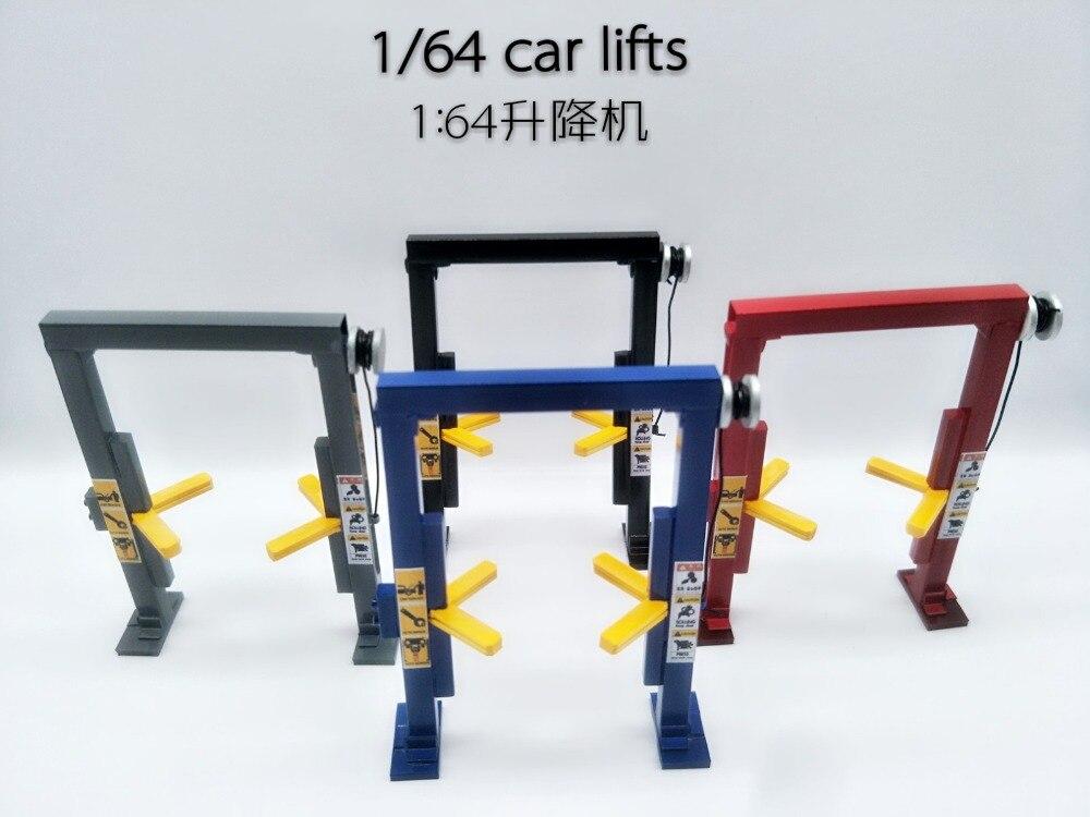 1/64 Lift Maintenance Scene Garage Props Model Car Repair Lift
