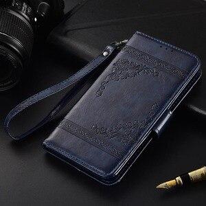 Flip Leather Case Voor Samsung Galaxy A30 2019 A305 SM-A305FN Fundas TPU Gedrukt Bloem 100% Speciale portemonnee stand case met band
