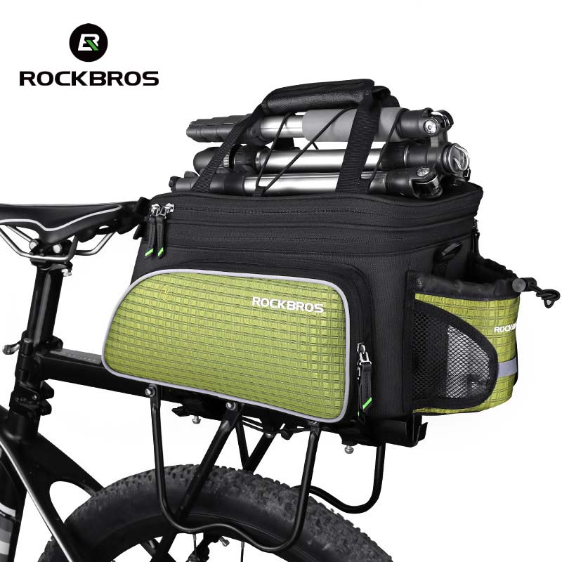 Rockbros 2018 Bike Bag Mountain MTB Road Multi Cycling Bag Bicycle Seat Bag Rear Trunk Back Riding Travel Panniers Accessories west biking bike chain wheel 39 53t bicycle crank 170 175mm fit speed 9 mtb road bike cycling bicycle crank