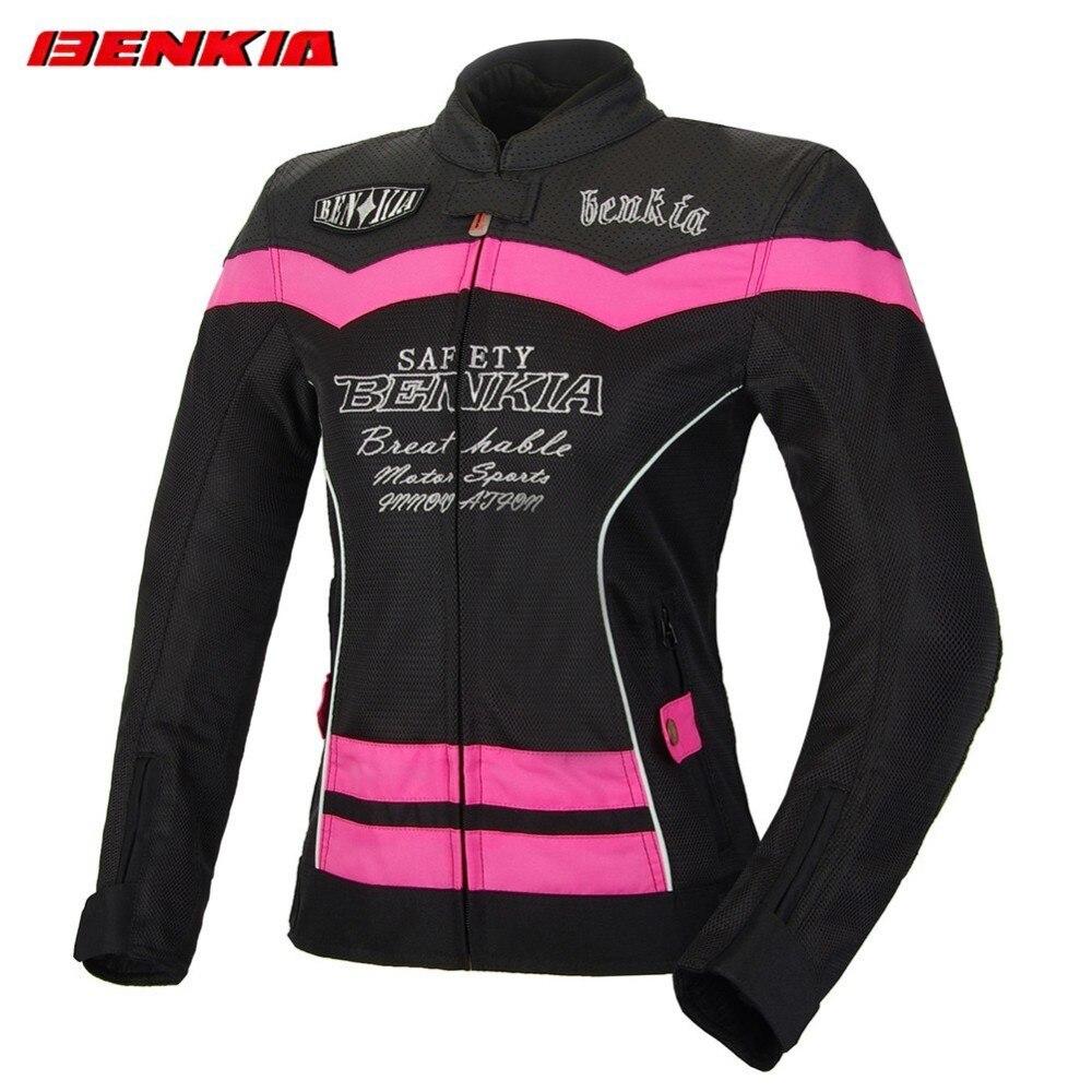 BENKIA JS-W55 Women summer motorcycle jacket Mesh Breathable Jacket Motorcycle Racing Suit Ventilation Riding Moto Jacket Women