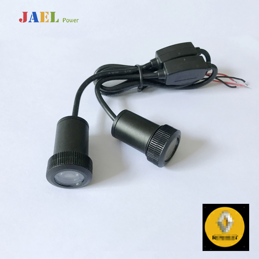 2PCs LED Door Ghost Shadow Light Courtesy Laser Projector Puddle lights Case For RENAULT Logo On the ground