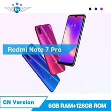Orijinal Xiaomi Redmi Not 7 Pro 6 GB 128 GB Cep Telefonu 48MP 13MP Kamera 6.3 ''Su Damlası Ekran snapdragon 675 4000 mAh CE FCC