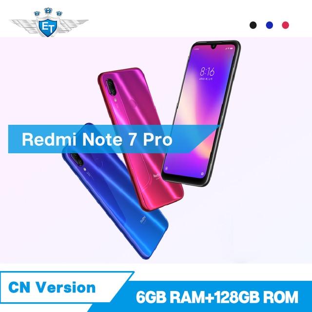 Original Xiaomi Redmi Note 7 Pro 6GB 128GB Mobile Phone 48MP 13MP Camera 6.3'' Water Drop Screen Snapdragon 675 4000mAh CE FCC