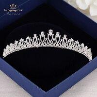 High End Top Quality European Brides Crown AAAA Cubic Zirconia Tiara Headpieces Evening Hair Accessories