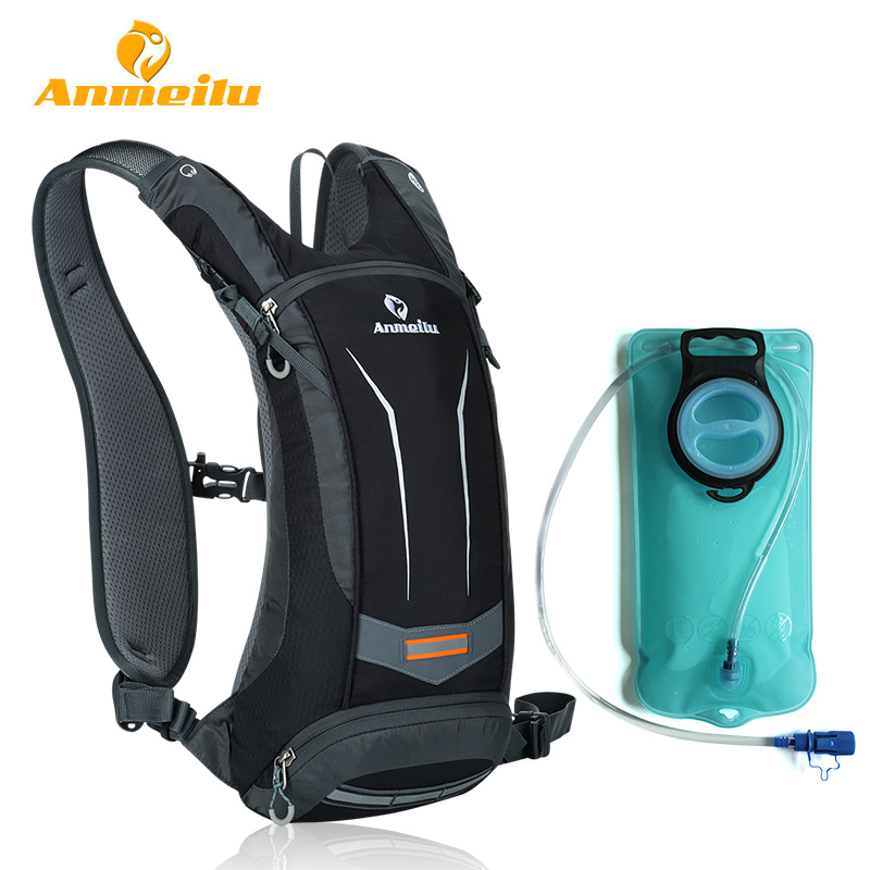 ANMEILU 2L Water Bag + 8L Waterproof Backpack Outdoor Climbing Cycling Camping Sport Water Bladder Hydration Backpack Camelback anmeilu 25l climbing bag sports rucksack waterproof cycling camping backpack rain cover sport travel bags 2l water bag camelback