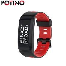 Potino № 1 F4 сердечного ритма SmartBand IP68 Водонепроницаемый Сидячий напоминание удаленного Камера смарт-браслет спальный Мониторы шагомер