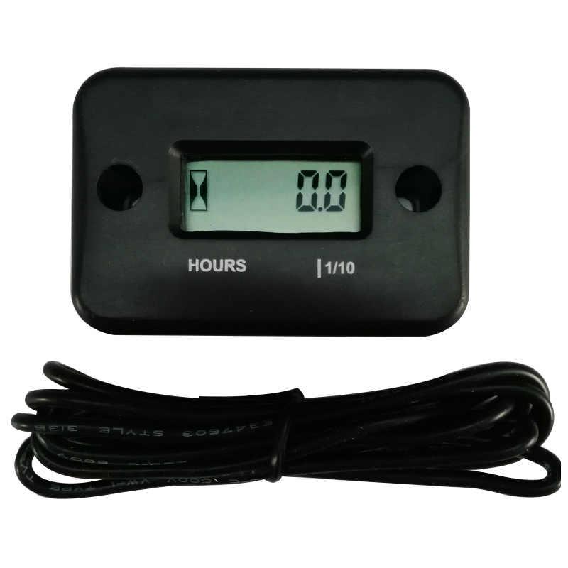 Jauge d'heures numérique Inductive étanche | Pour moto, vtt, moteur de neige à gaz, accessoires de moto, pièces automobiles