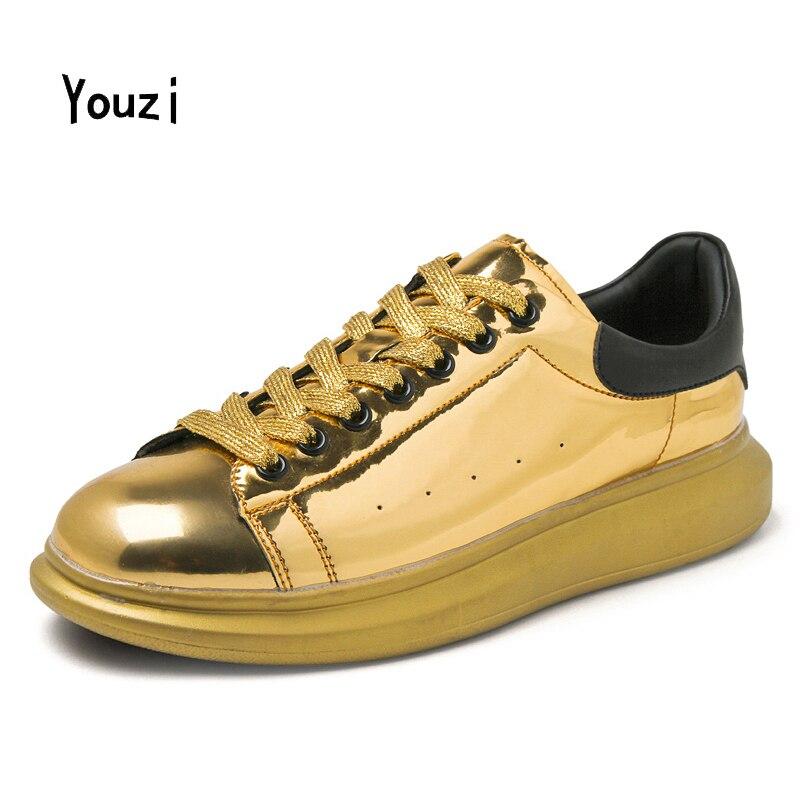 Prix pour 2016 Or Designer Hommes Femmes En Plein Air Air Sneakers Couple Formateurs Chaussures Skate Chaussures Résistant à L'usure Femme Panier Sport Chaussures