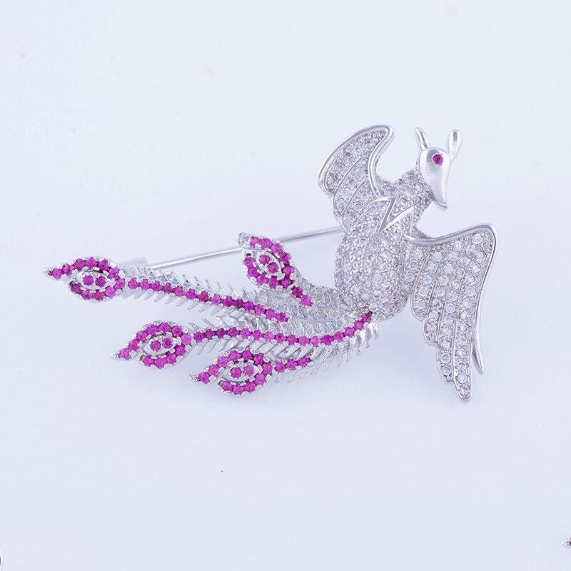 Партия Брошь Простые Модные животного Привет птица Медь инкрустированные цвет циркон пектораль праздник подарок ювелирные изделия