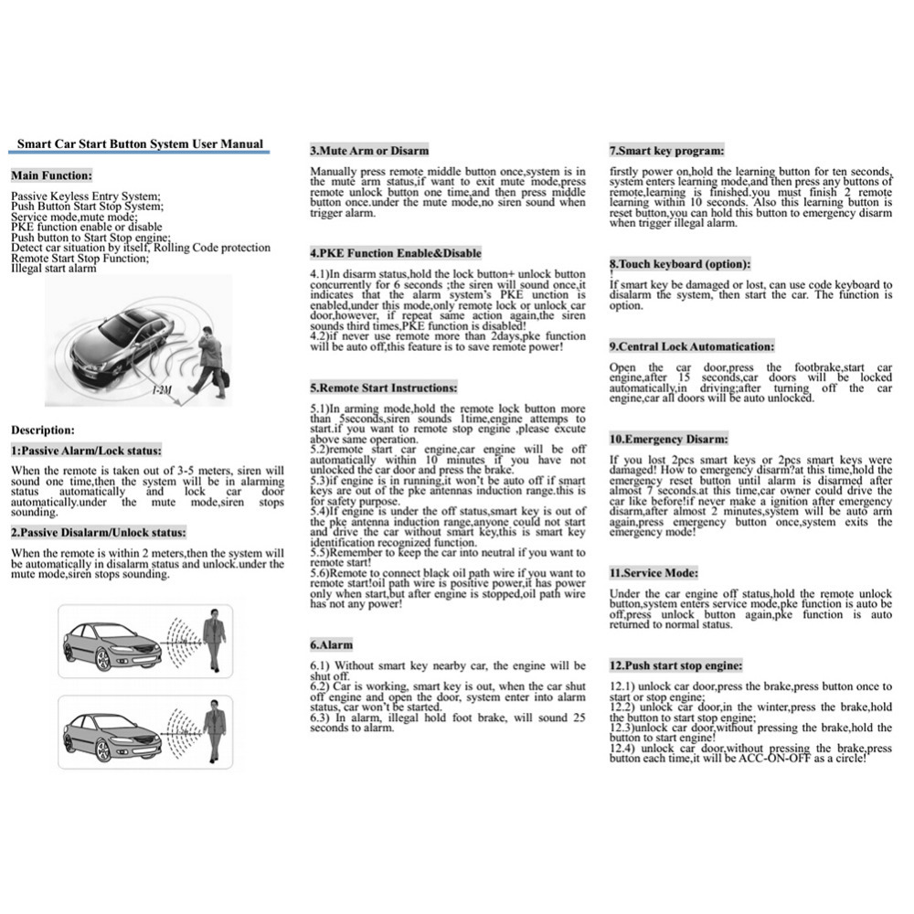 car keyless entry wiring diagram kqs q6c 12v car universal push button start keyless entry ignition  kqs q6c 12v car universal push button