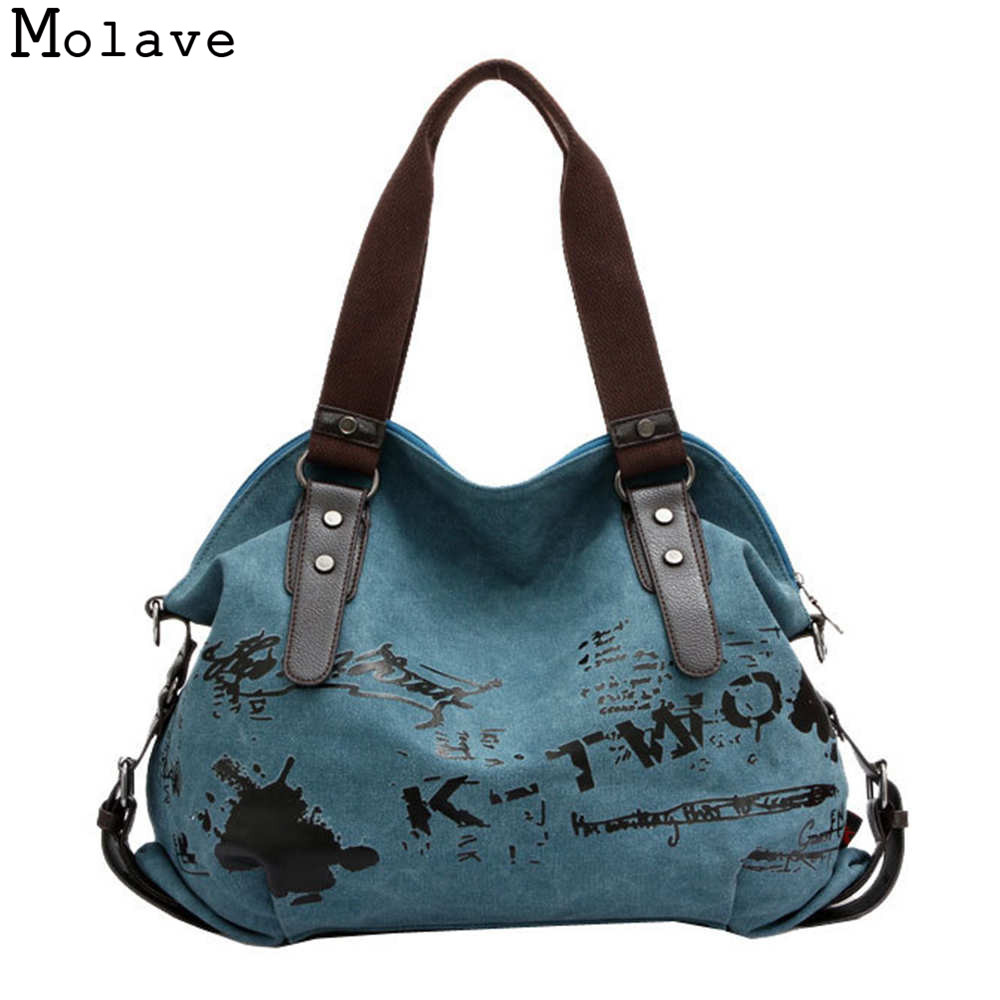 Vintage Graffiti Bag Canvas Handbag Shoulder Bag Ladies Tote Large OCTT06