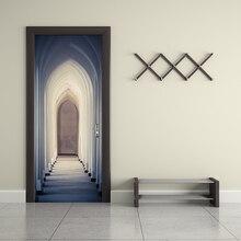 Creative Door Wall Sticker Islam Stickers Bedroom Door Corridor Decoration Wallpaper Pvc Wall Stickers YMT067