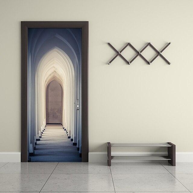 Porta creativo Autoadesivo Della Parete Islam Adesivi Murali Camera Da  Letto Del Corridoio Decorazione Carta Parati del Pvc YMT067