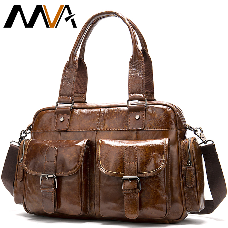 Briefcases Man Business Genuine Leather Men Bag Men Briefcases Mens Messenger Bag Leather Briefcase Business Office Bags For Men
