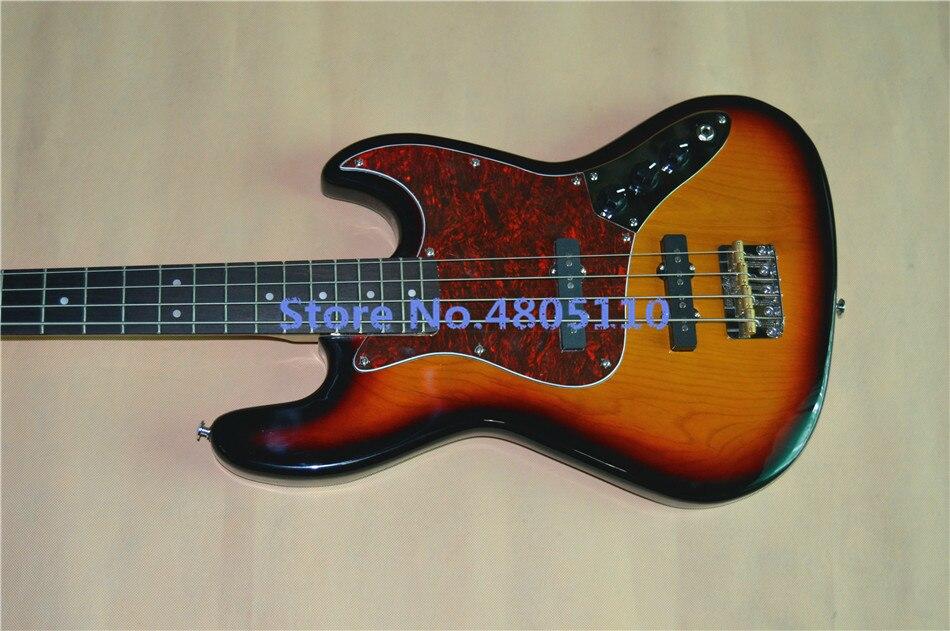 Новая высококачественная 4 струнная электрическая джазовая бас гитара, классическая красная черепаховая пластина, бесплатная доставка