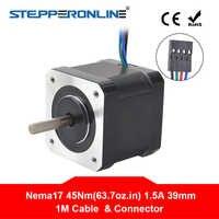 4-piombo Nema17 Motore Passo-passo 42 Motore 1.5A 39 millimetri 45Ncm 1m Cavo Nema 17 Motore Passo-passo per 3D Stampante/XYZ di CNC