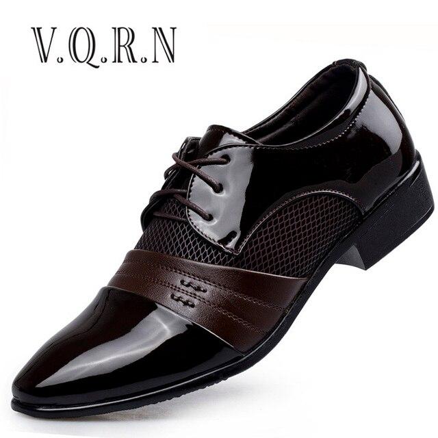 Cuero Vrqn Los Zapatos Oxford Hombres De Transpirable m8NOwn0v